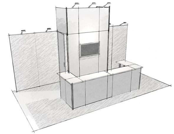 10x20 trade show booth bar