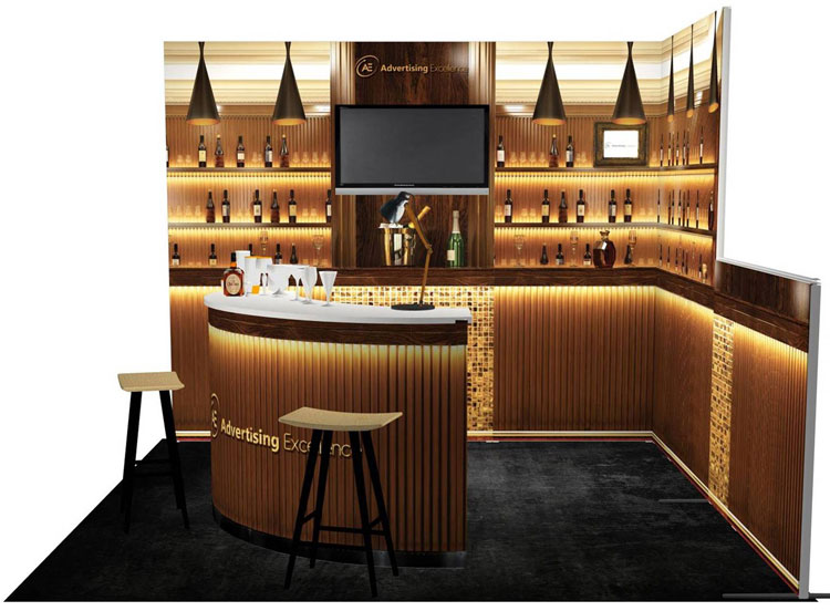 exhibit booth bar