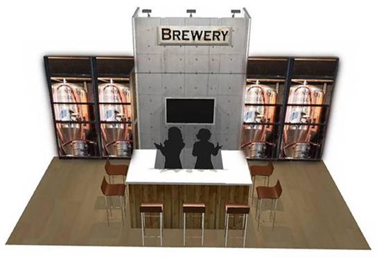bar exhibit booth