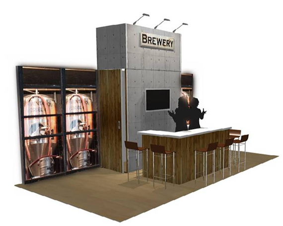 Exhibition Booth Setup : Exhibit booth bar trade show display bar booth that looks like